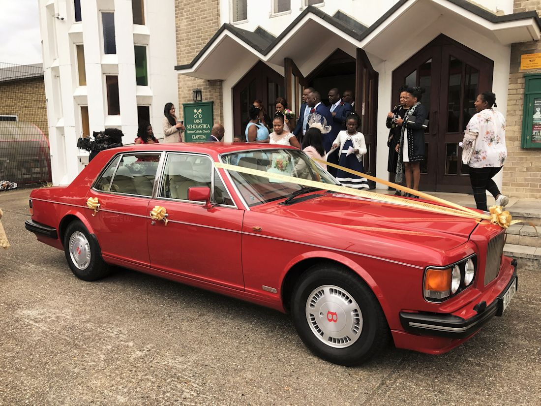 Red Bentley Wedding Car